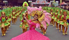 SINULOG FESTIVAL OF CEBU (Viva! Sr. Santo Niño) — SteemKR Sinulog Festival, Cebu City, Street Dance, Pagan, Philippines, Culture, Costumes, Celebrities, Pink