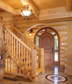 Log Home Living - can we do this to your cabin? Log Cabin Living, Log Cabin Homes, Log Cabins, Rustic Cabins, Log Cabin Exterior, Log Home Designs, Log Home Decorating, Rustic Room, Rustic Bedrooms