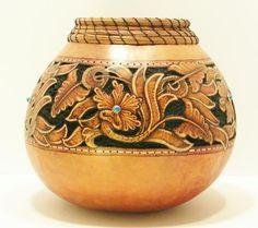 Western Fine Art Gourds by Hellen Martin