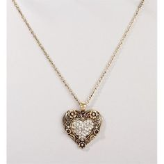 Burn Gold Heart Pendent Necklace