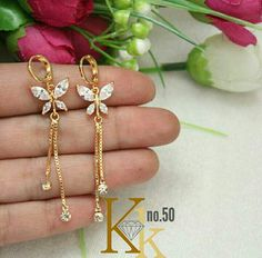 Latest Elegant jewelry from India.Learn more at the website above click the highlighted link for further details ~ Gold Wedding Jewelry, Gold Rings Jewelry, Delicate Jewelry, Ear Jewelry, Jewelery, Ankle Jewelry, Gold Jhumka Earrings, Jewelry Design Earrings, Gold Earrings Designs