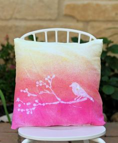 Use glue and stencils to create designs when you tie dye.