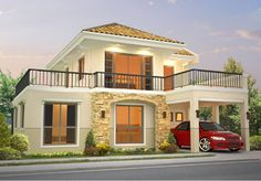 House and Lot for Sale Mission Hills Havila Antipolo City 2 Storey House Design, Bungalow House Design, Small House Design, Dream Home Design, Home Design Plans, Villa Plan, Philippines House Design, Philippine Houses, Mission Hills
