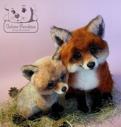 """Хочу познакомить Вас с новорожденными лисичками: это """"Аксинья"""" и ее сынок """"Пухоня"""")))) В связи с тем, что детки получились достаточно крупными (…"""