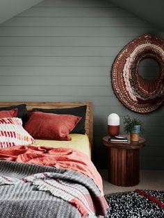 dark grey interior bedroom scheme