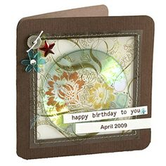 For A Personalized Twist On This Birthday Card Use Computer To Record Your Own Rendition Of Happy Then Burn It Onto Cute Mini CD