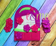 Raspberry Girl Tic Tac Toe Embroidery Design - 4x4 or Larger - E&Me Designs
