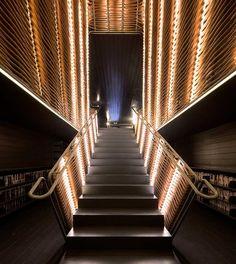 Staircase lighting design.