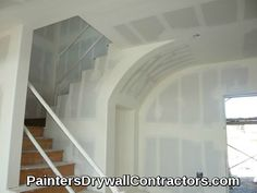 Drywall Contractors, Drywall Installation, Arch, Stairs, Mirror, Interior, Furniture, Home Decor, Tapestry