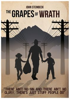 The Grapes of Wrath poster Quote Poster John by Redpostbox on Etsy