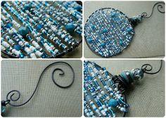 Beaded ornament tutorial for the Art Bead Scene's Ornament Blog Hop.
