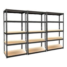 3 X 5 Tier Boltless Industrial Racking Garage Shelving Storage Shelve Heavy Duty
