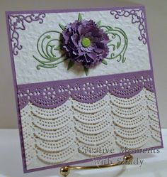 Created with Cheery Lynn Designs dies and embossing plate