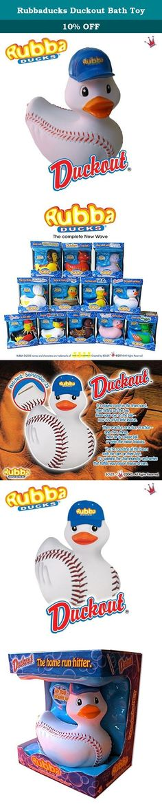 Rubbaducks Duckout Bath Toy. Duckout, Rubba Duck in its Gift Box. The Baseball duck, is sculpted and textured like a real baseball, stitches and all, wearing an official Rubba Ducks baseball cap with a 3 dimensional baseball bat tattoo on its tail feathers. Hatched: September 25th Tag Line: Duckout - the home run hitter Bio: It's playing catch in the front yard, then hitting off the tee. Keep your eye on the ball - now it's off to little league. Then practice, practice, practice - one…