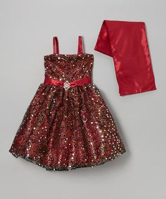 Look at this Sophia Young Burgundy Sequin Flower Dress & Shawl - Toddler & Girls on today! Boys And Girls Clothes, Toddler Girl Dresses, Girls Dresses, Toddler Girls, Cute Girl Outfits, Cute Outfits For Kids, Little Dresses, Flower Dresses, Holiday Dresses