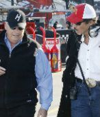 Richard Petty, King of Nascar!  (he is on the right)