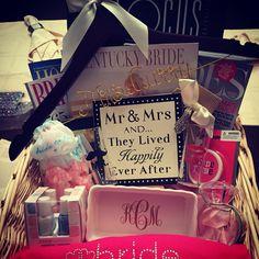 Engagement basket!! #engaged #wedding #present