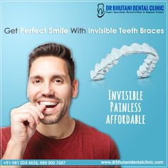 Mar 2020 - Get Perfect Smile😁 with Invisible, Painless & Affordable☑ Teeth Braces at Dr. Bhutani Dental Clinic🦷 Get the Smile😁 you Deserve✔ Book an Appointment Now! ☎️ 9810244656 Braces Cost, Teeth Braces, Best Dentist, Perfect Smile, Teeth Care, Dental Assistant, Dental Implants, Teeth Cleaning, Dental Care