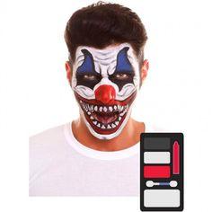 Kit Maquillaje de Payaso Halloween #maquillajehalloween #efectosespeciales Scary Couples Costumes, Diy Costumes, Diy Makeup, Makeup Ideas, Carnival, Halloween Face Makeup, Make Up, Painting, Halloween Ideas