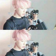 Hair pink-Chanyeol