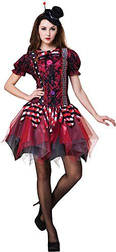 7737195f6 Womens Harlequin Harley Quinn Circus Fancy Dress Party Horror Clown Costume  * Click for Special Deals
