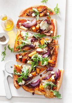 Slow Cooked Lamb and Pumpkin Pizza