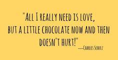 Noi aprobam citatul pentru ca putina ciocolata nu strica niciodata