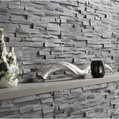 Plaquette de parement plâtre anthracite Benevento | Leroy Merlin