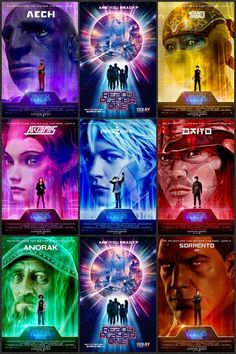 """R for """"Ready Player One"""" - Steven Spielberg - Posters Narnia, Geek Culture, Pop Culture, Ready Player One Movie, Geeks, Nerd, Great Movies, 80s Movies, Player 1"""
