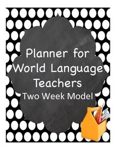 Planner made just for foreign language  teachers!