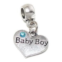 Baby Boy Heart Charm
