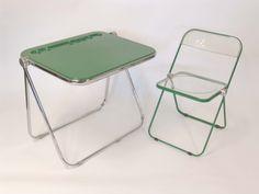 Giancarlo Piretti Plia Folding Chair & Table