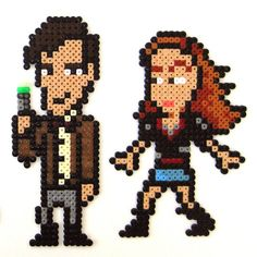 The doctor and Amy perler bead design