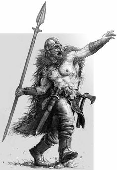 Before a battle, a viking would throw a spear as far as he could deep into the no-man's land, as was tradition. It represented the first battle in all of history, that was thrown by Odin during the creation of the world.