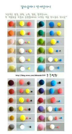 Bildergebnis Fur Farben Selber Mischen Tabelle Fimo Projekte