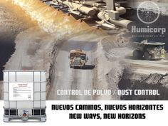 Aditvos para controlar el polvo tanto en caminos como acopios de materiales.