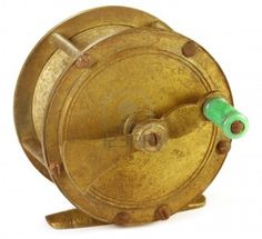 Vintage brass fly reel