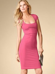 Cap-sleeve Ponte Dress -Victoria Secret
