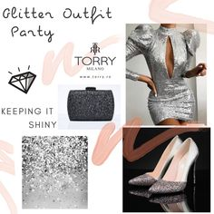 The prestige of our label is our signature that glorifies our name. Indulge yourself with TORRY the ageless beauty of fashion, for treasured memories! New Years Eve Outfit Casual, New Years Eve Outfits, Casual Outfits, Glitter Party, Ageless Beauty, High Heels, Fancy, Label, How To Wear