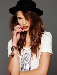 Hat Attack Felt Boater at Free People Clothing Boutique
