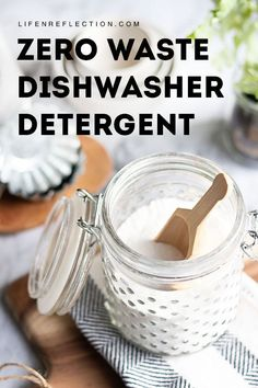 Diy household tips 193865958948164669 - Hard water deposits and grease are no problem for this easy zero waste dishwasher detergent and DIY rinse aid. Get our recipes now! Homemade Cleaning Supplies, Diy Home Cleaning, Household Cleaning Tips, Cleaning Hacks, Homemade Products, Household Cleaners, Green Cleaning, Hacks Diy, Homemade Dishwasher Detergent