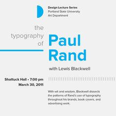 Typographic hierarchy ! Paul Rand!! that's thee man! He's burried in here in Norwalk. Huge inspiration!