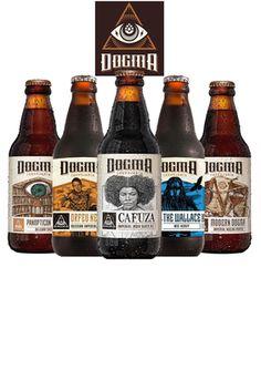 """Kit Especial com 5 rótulos da Cervejaria Dogma. De R$142,50 por R$117,49 utilizando nosso cupom de desconto """"CUPONOMIA15""""!"""