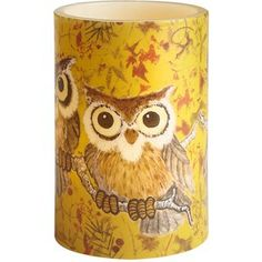 Golden apple orchard Led Owl candle