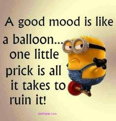 Funny Minion Joke About Mood vs. Balloons