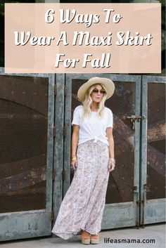 The best thing about a maxi skirt is that you can wear it any time of year! Since we're in the fall fashion season, let's look at a few ways to wear a maxi skirt or dress for fall!