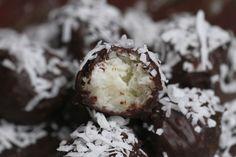 coconut, chocolate, truffles, coconut truffles, no bake