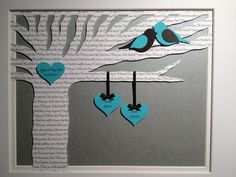 Personalized Wedding Anniversary Gift - First Dance Song Lyrics 3D Paper Tree - Customized - FRAMED on Etsy, $60.00
