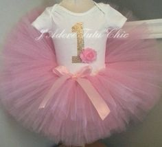 Check out this item in my Etsy shop https://www.etsy.com/listing/220150457/pink-and-gold-1st-birthday-tutu-outfit