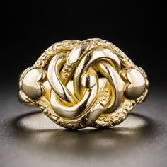 Antique 18k Love Knot Ring